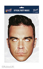 Robbie Williams Single 2D Card Party Face Mask singer pop