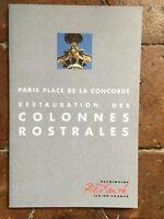 Restauro Delle Colonne Rostrales Parigi Concorde Heritage Restaurato 1995