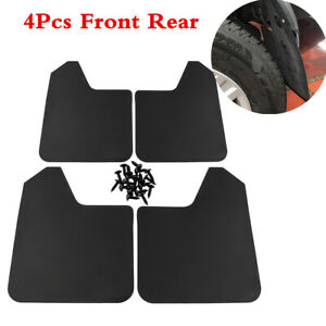 Set of 4pcs Mud Flaps Splash Guards Fender Universal For Car Truck SUV Black