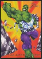 1994 Flair Marvel Annual Trading Card #95 Hulk Leads the Pantheon