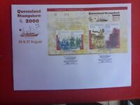 QLD STAMP SHOW 2000 OVERPRINTED TOWARDS FEDERATION M/S  POSTMARK LARGE COVER