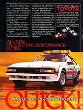 1984 Toyota Celica Supra Pace QUICK Original Advertisement Print Art Car Ad J718