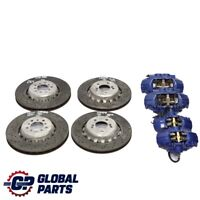 BMW F80 F82 M3 M4 Front Rear Left Right N/O/S Perforated Brake Disc Caliper Set