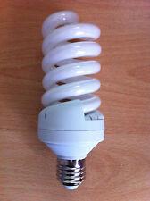 30 W vatios es E27 Rosca en ahorro de energía Espiral CFL Luz 6400k Bombilla X 4