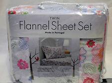Twin Flannel Sheet Set by Divatex Cotton Flower Set