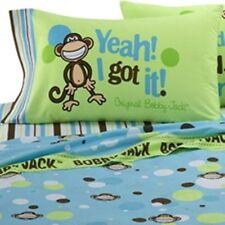 Bobby Jack Pillowcase GOING DOTTY Monkey Standard Green Brown Decorative Jungle