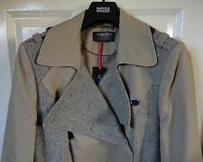 Limited Collection Mac Coat with Wool, Natural Colour, Size 14, BNWT, Was £89