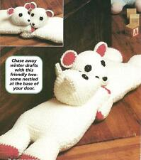 *Hugging Bears Toy or Draft Dodger crochet PATTERN INSTRUCTIONS