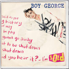 "BOY GEORGE Vinyle 45 tours 7"" SP SOLD F Reduit RARE"