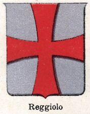 Stemma del Comune di REGGIOLO. Cromolitografia. Reggio Emilia. Passepartout.1901