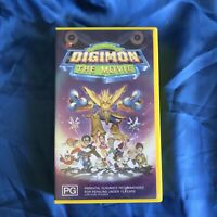 Digimon The Movie - VHS Video Tape - Vintage 90's Kids Cartoon Anime Dubbed