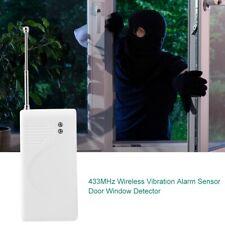 433MHz Wireless Door Window Vibration Alarm Sensor Home Security Antitheft Alert