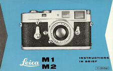 LEICA M1 & M2 35mm RANGEFINDER CAMERA INSTRUCTION MANUAL-LEICA M1 & M2-from 1963