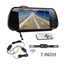"Wireless Car SUV Rear View 7"" LCD Mirror Monitor + IR Reversing Camera 170° Kit"