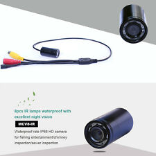 5m Cable 8 Lamps 90deg 4-24V Small Size Waterproof Pipe Inspection Video Camera