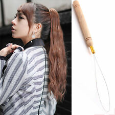 New Hair Extension Hook Loop Pulling Needle Hair Extension Threader Tool Feather