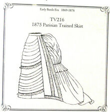 Truly Victorian TV216 Sewing Pattern for 1875 Parisian Women trained skirt UNCUT
