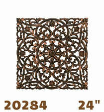 "Carved Square Wall Decor 24"" - dark  Hand finshed - REGAL ART & GIFT 20284"