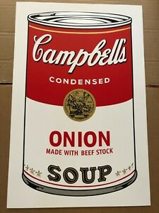 """Andy Warhol (After), """"Campbell's Soup"""" - Onion; Sunday B Morning Screen Print"""