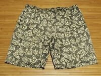 Tori Richard Graphic Beige Lined Swimming Trunks Mens Size 2XL