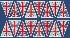 Union Jack Flag UK Bunting Cotton Quilting Sewing Wedding Party Panel Fabric