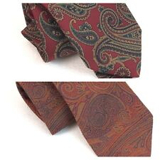 Robert Talbott Ties Lot 2 two Paisley Red Orange Fathers Day Gift USA