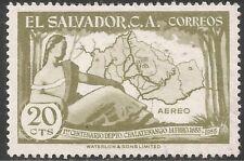 El Salvador Air Post Stamp - Scott #C175/A179 20c Light Olive Green Canc/LH 1956
