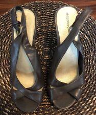 XHILARATION Brown Platform Pumps Slingback High Heels Womens Shoes Sz 11M