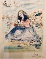 """Salvador Dali: Original signed lithograph (framed) """"Madonna & Child 1967"""