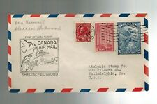 1939 Shediac Botwood Canada to Philadelphia First Official Flight Airmail Cover