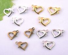 5Pcs Silver/Gold/Bronze/Nickel Heart-shape Lobster Clasp 12mm