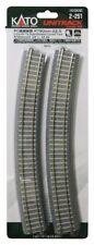 Kato 2-251 Concrete Tie 790mm 22.5° Curve Track scale R790-22.5PC HO