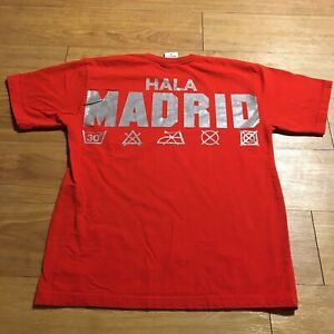 Hala Madrid Spain Soccer Team Red Shirt Size S Small
