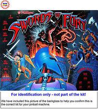 1988 Williams Swords of Fury Pinball Rubber Ring Kit