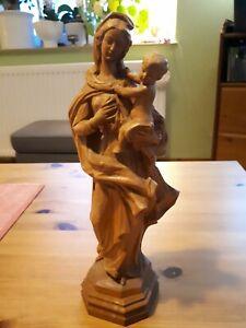 Mutter Gottes mit Jesuskind aus Holz Maria und Jesus Höhe ca. 25 cm