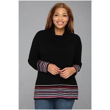 Pendleton Women's Plus Size Crème De Cashmere Stripe Cowl Neck Sweater Size 2X