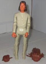 "Vintage Marx Tonto Indian 11 1/2"" Toy Figure Doll Geronimo w/2 Headdress Feather"