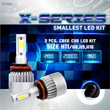 200W 20000LM CREE LED 6000K White Headlight High Beam Kit ONLY PAIR - H9