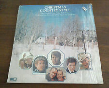 Christmas Country Style LP Vinyl Record Vintage Glen Campbell Buck Owens