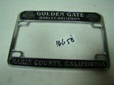 Golden Gate Harley Marin County California license plate frame FXR Dyna EPS16658