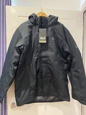 Jack Wolfskin Mens Black Outdoor Wear Coat Jacket Brand New Tagged 2XL