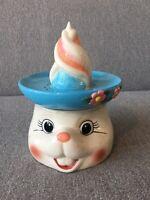 Adorable Cracker Barrel Bunny/Rabbit Juicer/Flower Vase Gift Easter