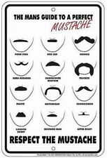 Mustache 8x12 metal sign - for Barber Shop Collectible hunters Route rt 66