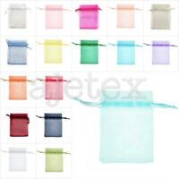 25/50/100/200pcs Organza Party Xmas Wedding Favour Gift Bag Candy Pouch 11x16cm