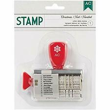 American Crafts Roller Date Stamp - Christmas