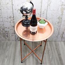 Round Copper Coffee Table Contemporary Furniture Modern Decor Home - Free P&P