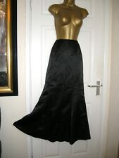 8 KALEIDOSCOPE BLACK SATIN MAXI SKIRT FISHTAIL BALL PARTY WEDDING CRUISE NEW