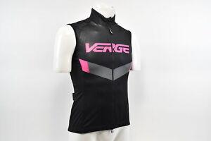 Medium Women's Verge Elite Entropa Fall Cycling Vest Black/Pink/Grey CLOSEOUT
