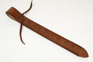 "Off Billet - 2"" x 19"" - Brown Saddle Leather (E450)"