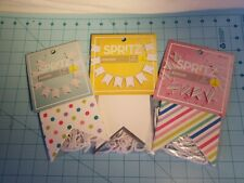 Spritz Brand: Set Of 3 Banners Rainbow Stripe & Dots, White/Silver - Brand New